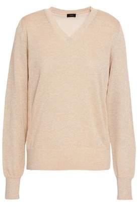 Joseph Metallic Cotton-Blend Sweater
