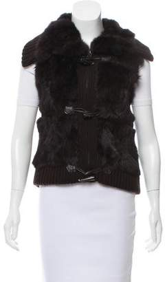 Yves Salomon Fur-Paneled Knit Vest