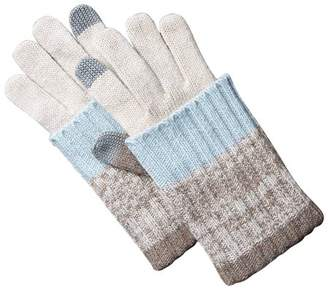 Tickled Pink Striped Knit Texting Gloves, Set of 2 Gloves, One Size Fits Most, 35% Wool; 65% Acrylic, Multiple Colors