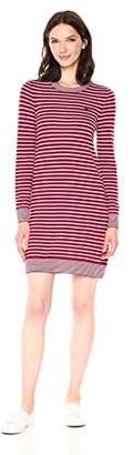 Lacoste Women's Long Sleeve Striped Wool Sweater Dress