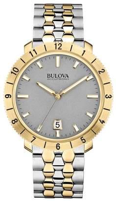 Bulova Men's Moonview Two-Tone Bracelet Watch, 42mm