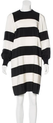 Marc JacobsMarc Jacobs Wool-Trimmed Silk Dress