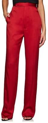 Haider Ackermann Women's Washed Satin High-Waist Trousers