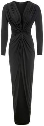 Sarvin - Bianca Knot Front Maxi Dress