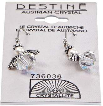 Crystallite Destine Angel Dangle Earrings