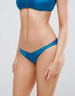 Asos Matte Satin Panel Hipster Bikini Bottom