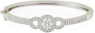FANTASIA Silver-Tone Snowflake Bangle Bracelet