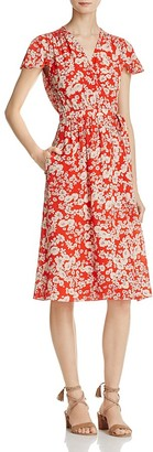 Rebecca Taylor Cherry Blossom Silk Wrap Dress $475 thestylecure.com