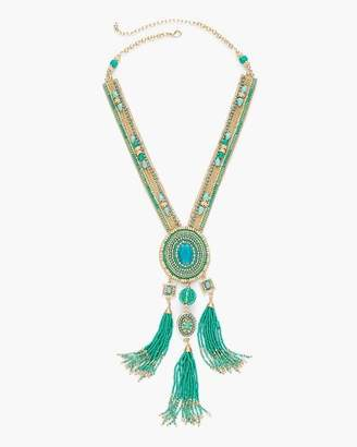 Cool Seed Bead Tassel Necklace