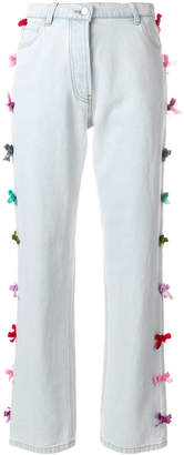 Manoush bows detailing straight jeans
