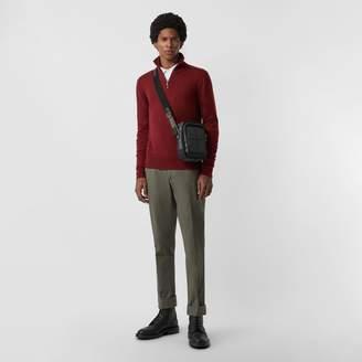 Burberry Merino Wool Half-zip Sweater, Red