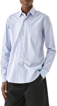 Loewe Men's Multipattern Stripe Sport Shirt