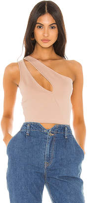 superdown Nava Asymmetrical Crop Top
