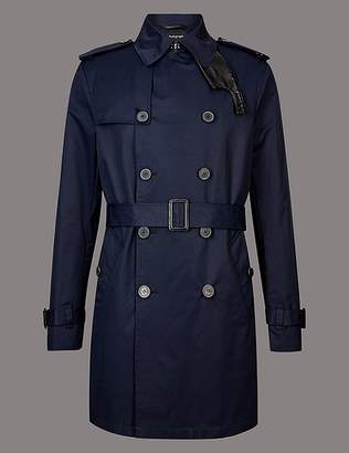 "Marks and Spencer Cotton Rich Trench Coat with Stormwearâ""¢"