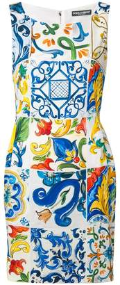 Dolce & Gabbana Sicilian tile mini dress