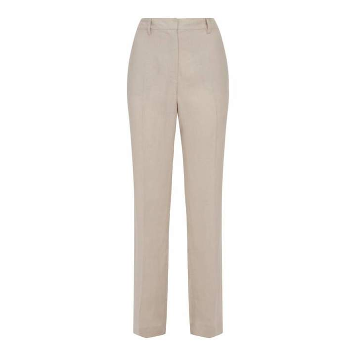 Natural Linen Parallel Trousers