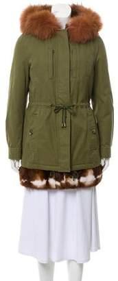 Alessandra Chamonix Fur-Trimmed Parka Coat w/ Tags