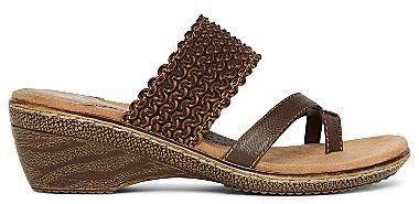 JCPenney YuuTM Magan Toe-Loop Slide Wedge Sandals
