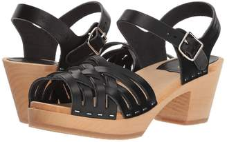 Swedish Hasbeens Braided High Women's Clog/Mule Shoes