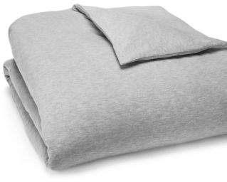 Calvin Klein Modern Cotton Jersey Body Solid Duvet Cover, King