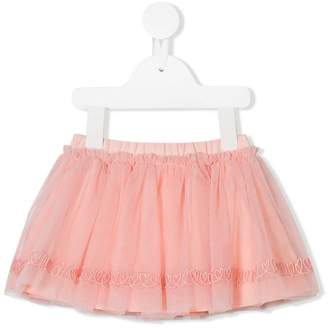 Fendi heart embroidered tutu