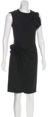 Diane von Furstenberg Bow-Accented Sheath Dress