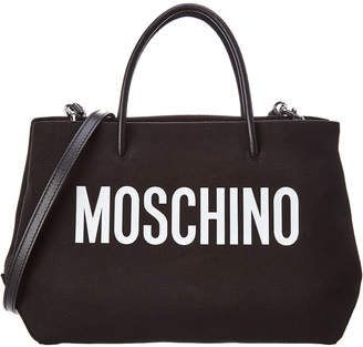 Moschino Medium Logo Canvas Tote