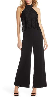 Lulus Lace Popover Wide Leg Jumpsuit