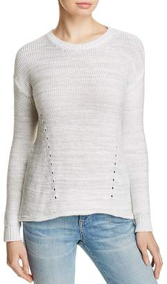 One Grey Day Blaine Shredded Back Sweater $188 thestylecure.com