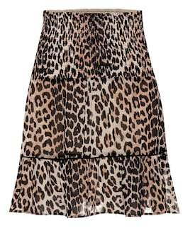 Ganni Printed georgette miniskirt