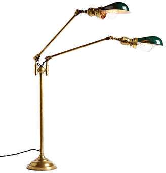 Rejuvenation Double-Arm Faries Lamp No. 1792 w/ NOS Hubbell Reflector Shades