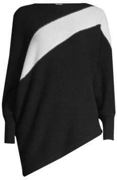 TSE x SFA Cashmere Asymmetric Colorblocked Sweater