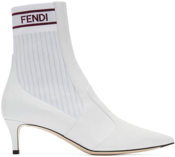 Fendi White Rockoko Boots
