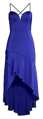 Aidan Mattox Women's Asymmetric High-Low Dress