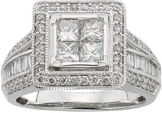 JCPenney MODERN BRIDE 1 CT. T.W. Diamond 10K White Gold Multi-Top Bridal Ring
