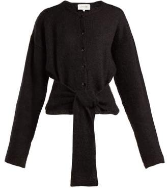 Lemaire Tie Front Mohair Blend Cardigan - Womens - Black
