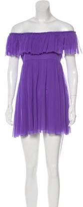Jean Paul Gaultier Soleil Off-The-Shoulder Mini Dress