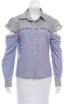 Aqua Striped Button-Up