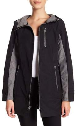 Trina Turk Two-Tone Front Zip Jacket