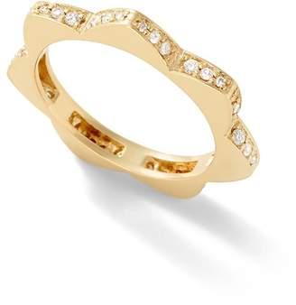 Alison Lou Stelle White Diamond Ring