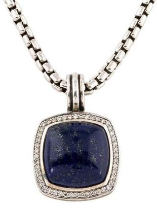 David Yurman Lapis Lazuli & Diamond Albion Pendant Necklace