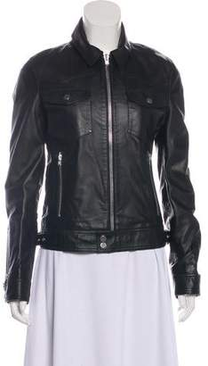 The Kooples Casual Leather Jacket