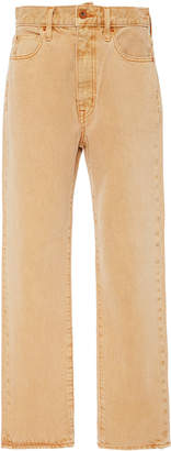 SLVRLAKE Denim London High-Rise Straight-Leg Cropped Jeans