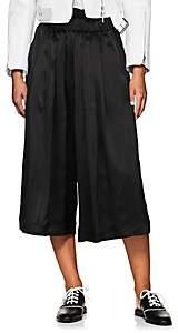 Noir Kei Ninomiya Women's Silk Satin Culottes - Black