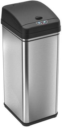 iTouchless 13 Gallon Touchless Sensor Kitchen Trash Can, Stainless Steel, Odor Filter System
