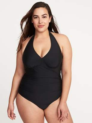 Old Navy Secret-Slim Plus-Size Halter Swimsuit