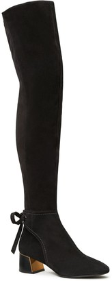 Gigi Over-The-Knee Ankle-Tie Boot