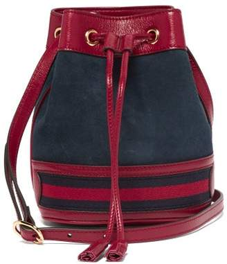 Gucci Ophidia Mini Suede Bucket Bag - Womens - Red Navy