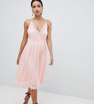 boohoo Cami Lace Midi Dress