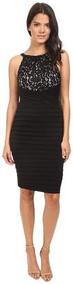 London Times Lace And Jersey Shutter Sheath Dress Women's Dress